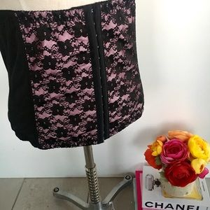 Other - Black & Pink Lace Corset